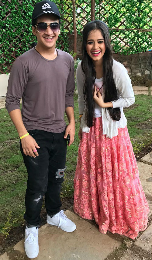 Jannat Zubair Rahmani with her close friend Faisal Khan