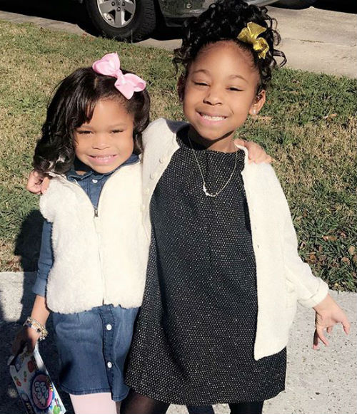 Jason Mitchell's daughters