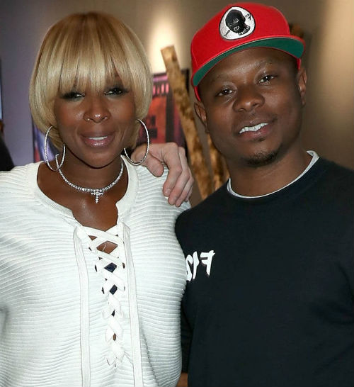 Jason Mitchell with girlfriend Mary J. Blige