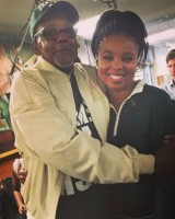 Jemele Hill with father Jerel Brickerson
