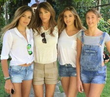 Jennifer Flavin with her daughters- Sophia, Sistine & Scarlet