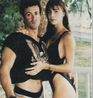 Jennifer Flavin with husband Sylvester Stallone