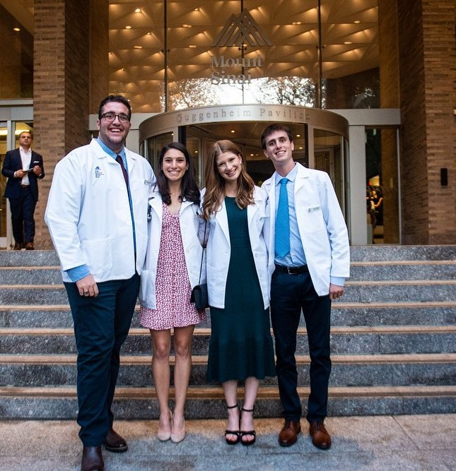 Jennifer Katharine Gates at the Medical school with friends