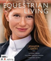Jennifer Katharine Gates on the cover page of Equestrian Living