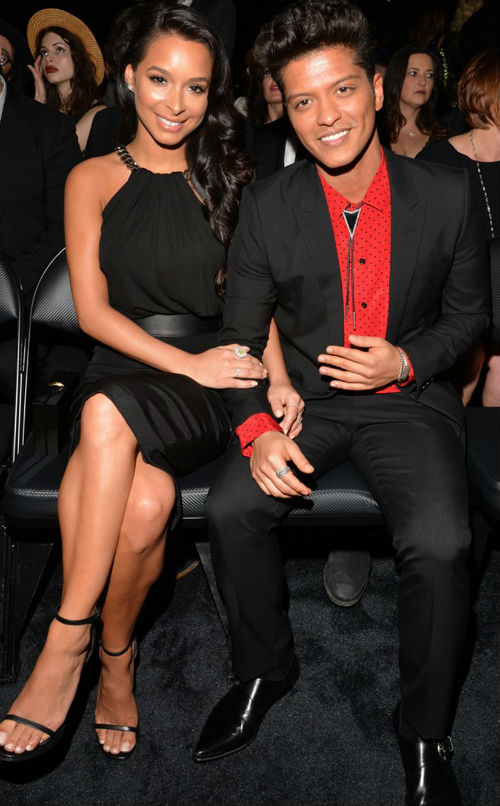 Jessica Caban & Bruno Mars together at the Grammys