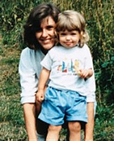 Jessica Rothe (childhood) with Mother Susan Rothenberg