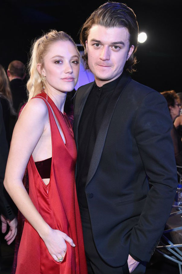 Joe Keery with girlfriend Maika Monroe