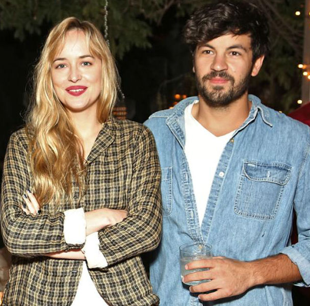 Jordan Masterson with Dakota Johnson