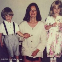 Josh Bowman childhood Family: Mother & Sister