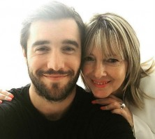 Josh Bowman with his mother
