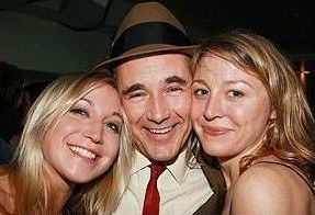 Juliet Rylance with sister Natasha van Kampen and Mark Rylance