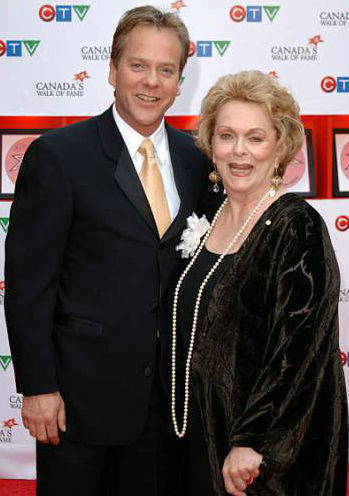 Kiefer Sutherland with mother Shirley Douglas