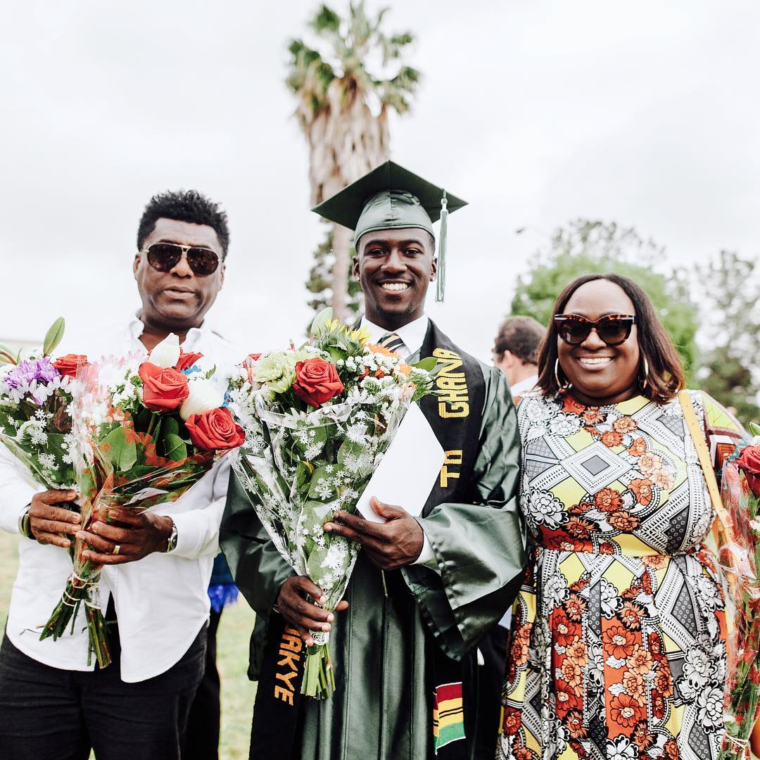 Kofi Siriboe's younger brother & parents