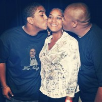 Kyle Massey with Christopher Massey(Brother) & Angel Massey(Mother)