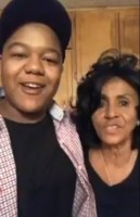 Kyle Massey with grandma