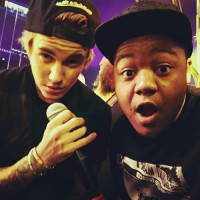 Kyle Massey with Justin Bieber