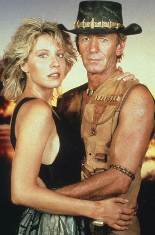 Linda Kozlowski with Paul Hogan