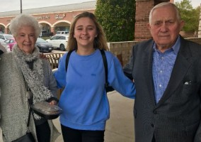 Lizzy Greene with grandparents