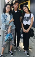 Madison Hu with her friends