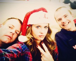 Maggie Lawson with brothers- Nick Lawson, Chris Lawson