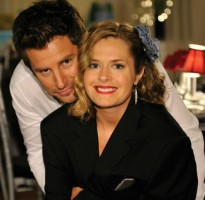 Maggie Lawson with James Roday