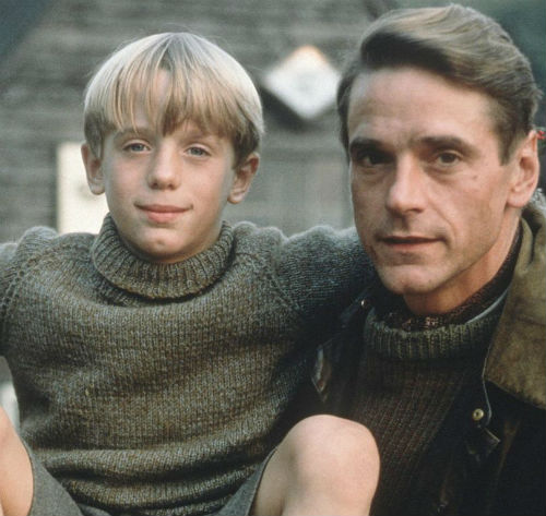 Max Irons childhood with father