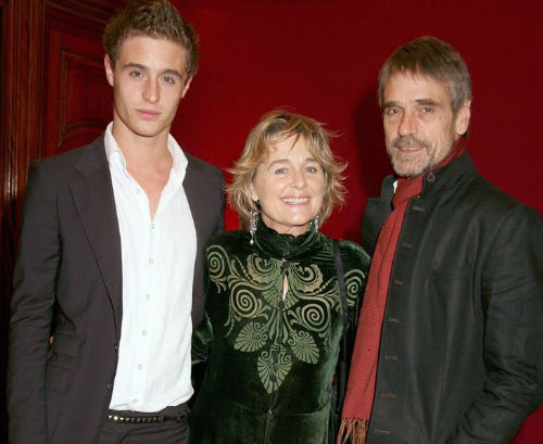 Max Irons with parents Jeremy Irons(father), Sinead Cusack(Mother)