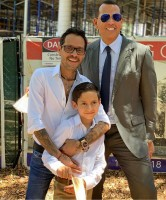 Max Muniz with father Marc Anthony and Alexander Rodriguez