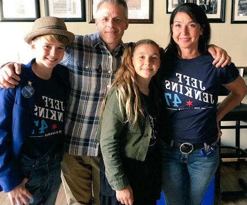 Maxwell Jenkins family: father Jeff Jenkins, sister Samantha Jenkins, mother Julie Greenberg