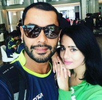 Mayanti Langer with husband Stuart Binny