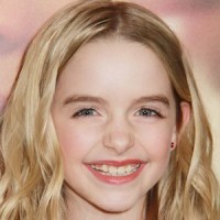 Mckenna Grace in her curly blond hair