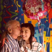 Molly Ephraim with her grandpa