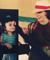 Molly Ephraim with mom in childhood