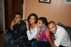 Nafissatou Thiam with family: sister & brothers