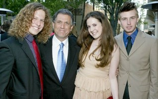 Nancy Wiesenfeld's children(Daughter Sara, Sons- Adam & Michael) with their father Les Moonves