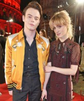 Natalia Dyer with her boyfriend Charlie Heaton