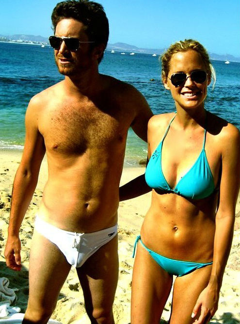 Oliver Hudson with Wife Erin Bartlett