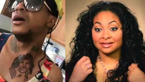 Orlando Brown Raven-Symone neck tattoo