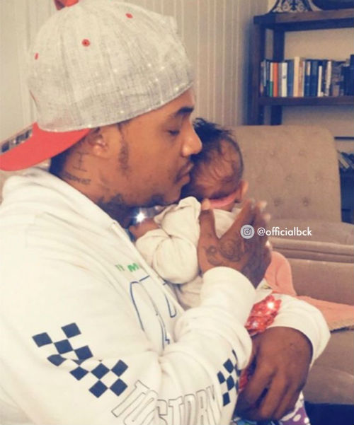 Orlando Brown with daughter Journee Annistyn Brown
