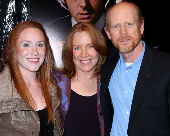Paige Howard with her parents: Cheryl Alley(Mother), Ron Howard(Father)