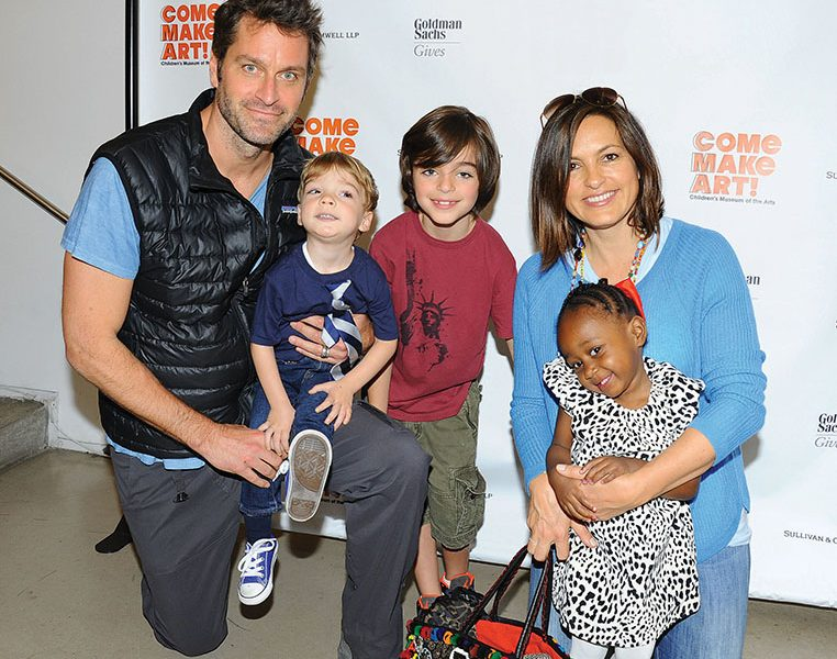 Peter Hermann Family: Wife Mariska Hargitay, Sons August & Andrew, Daughter Amaya