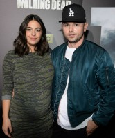 Pregnant Alanna Masterson with her boyfriend Brick Stowell