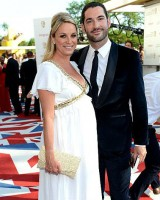 Pregnant Tamzin Outhwaite with Tom Ellis