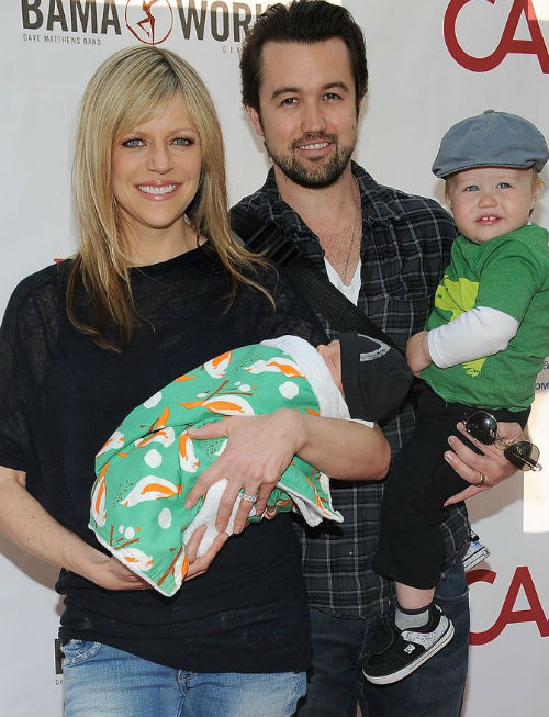 Rob McElhenney & Kaitlin Olson with sons-Axel Lee McElhenney(Elder), & Leo Grey McElhenney(young)