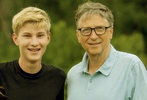 Rory Gates and father Bill Gates