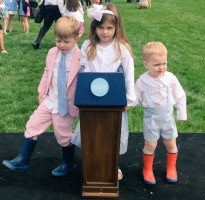 Sarah Huckabee Sanders's children- Scarlett Sanders, George Sanders, William Huckabee Sanders