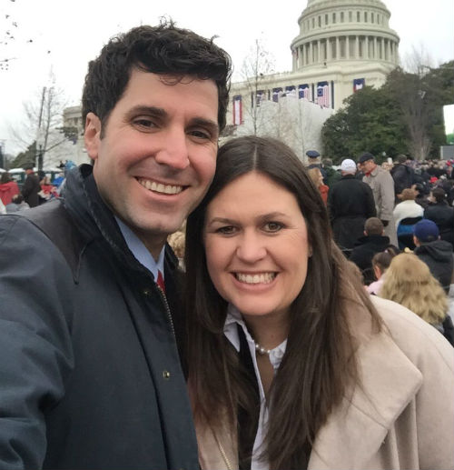 Sarah Huckabee Sanders with husband Bryan Sanders