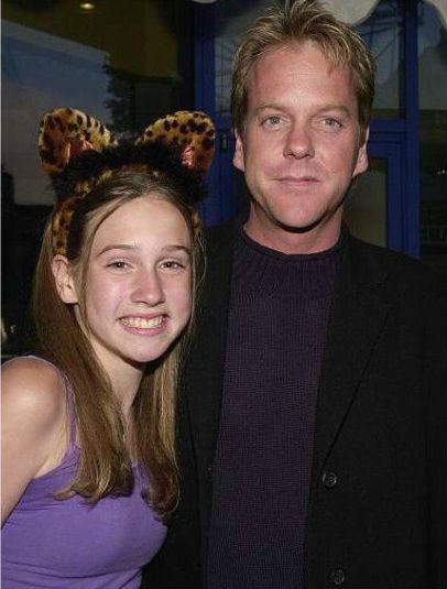 Sarah Sutherland with her father Kiefer Sutherland