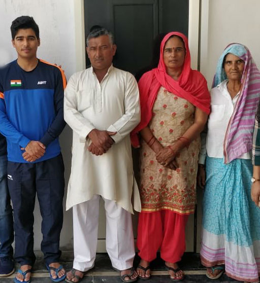 Saurabh Chaudhary parents- mother & father