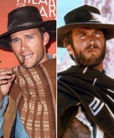 Scott Eastwood dressed up as his father Clint Eastwood for Halloween